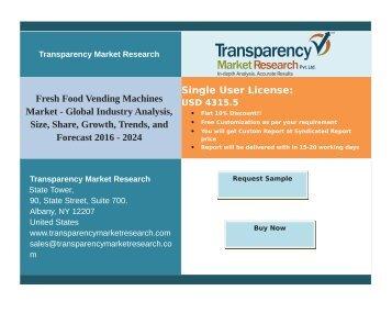 Fresh Food Vending Machines Market - Global Industry Analysis, Forecast 2016 - 2024