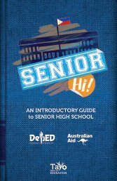 AN INTRODUCTORY GUIDE to SENIOR HIGH SCHOOL