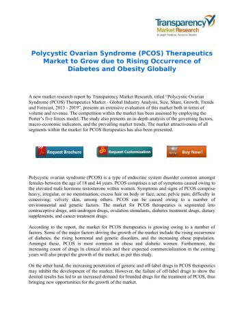 Polycystic Ovarian Syndrome (PCOS) Therapeutics Market