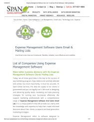Buy List of Expense Management Software using Companies from Span Global Services