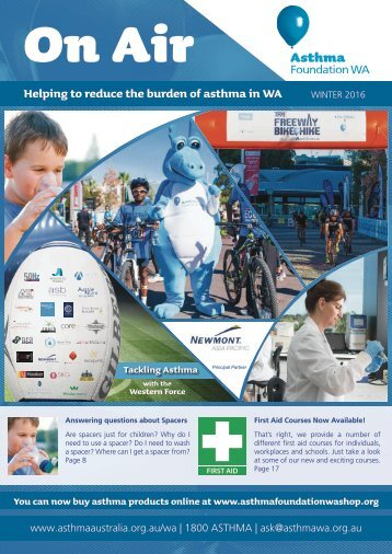 Asthma Foundation WA's ON AIR, Winter Edition 2016