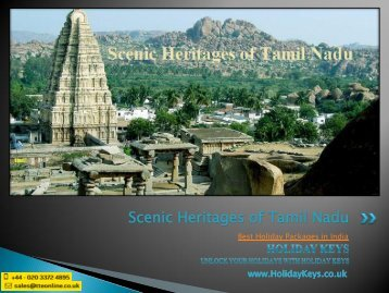 Scenic Heritages of Tamil Nadu - HolidayKeys.co.uk