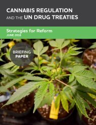 CANNABIS REGULATION UN DRUG TREATIES