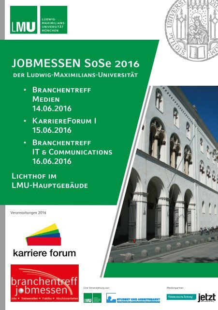 Lmu Jobmessen Sose 2016