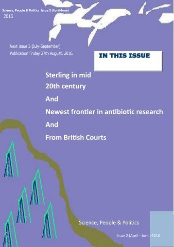 20th century And Newest frontier in antibiotic research And From British Courts