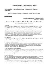 Kommission für Volksdichtung (KfV) - University of Aberdeen