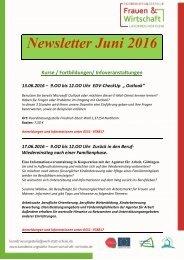 Newsletter Juni 2016
