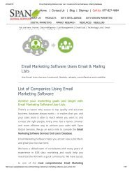 Purchase Tele Verified Email Marketing Software Customer Lists from Span Global Services