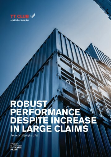 ROBUST PERFORMANCE DESPITE INCREASE IN LARGE CLAIMS