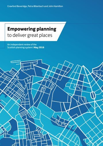 Empowering planning to deliver great places