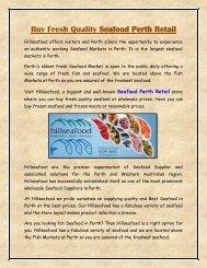 Buy Fresh Quality Seafood Perth Retail