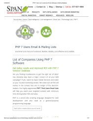 Get List of Companies using PHP 7 from Span Global Services
