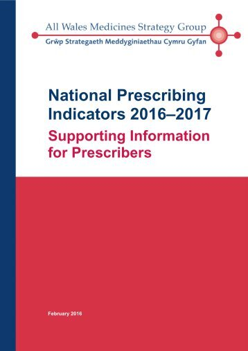 National Prescribing Indicators 2016–2017
