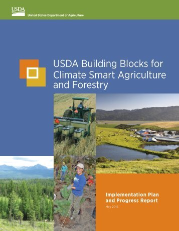 USDA Building Blocks for Climate Smart Agriculture and Forestry
