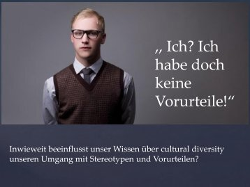 cultural diversity.vorurteile.