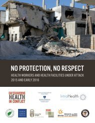 MEMBERS OF THE SAFEGUARDING HEALTH IN CONFLICT COALITION