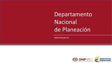 Nacional de Planeación