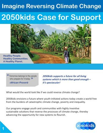 2050kids Case for Support