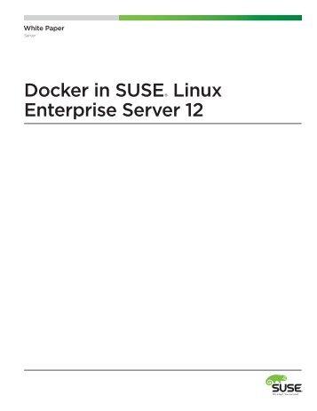 Docker in SUSE Linux Enterprise Server 12