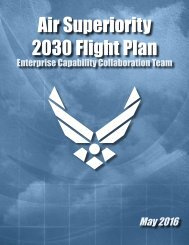 Air Superiority 2030 Flight Plan