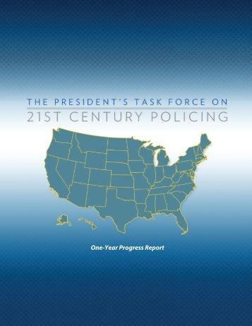 One-Year Progress Report