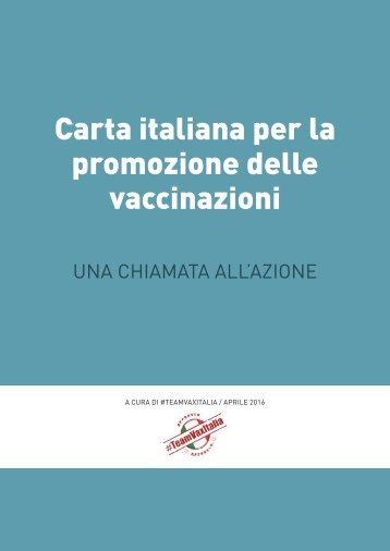 Carta italiana per la promozione delle vaccinazioni