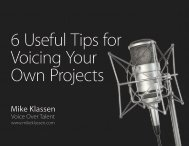 6 Useful Tips for Voicing Your Own Projects