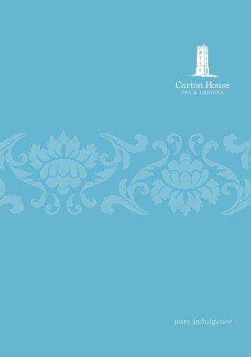 Carton House Spa Brochure