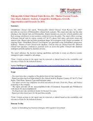 Poliomyelitis Market Analysis And Segment Forecasts To 2016