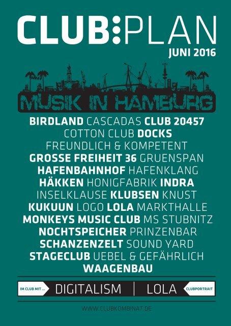 Clubplan Hamburg - Juni 2016