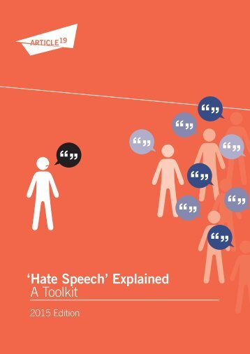 'Hate Speech' Explained A Toolkit