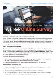 Easiest Way to Create And Publish A Free Online-Survey