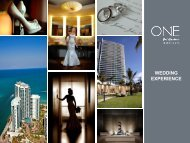 WEDDING EXPERIENCE - Bal Harbour Village, Florida