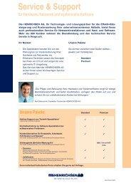Download Ãœbersicht Service & Support Leistungen - Henrichsen AG