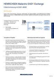 Henrichsen Mailarchiv Easy4Exchange.indd