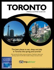 The best places to eat, sleep and play in Toronto this ... - TripAdvisor