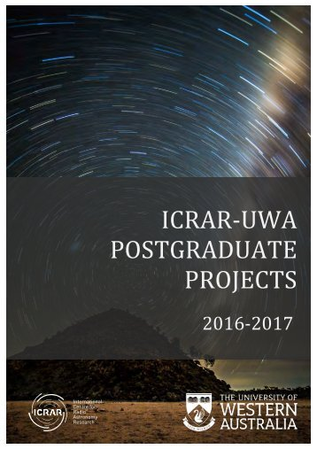 ICRAR-UWA POSTGRADUATE PROJECTS
