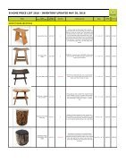 Bhome Wholesale Pricelist Stools 2016 - Page 2
