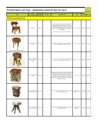 Bhome Wholesale Pricelist Stools 2016 - Page 3