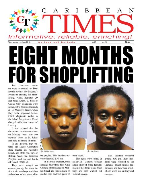 Caribbean Times 20th Issue - Wednesday 1st June 2016