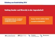 Fachtag Gender und Diversity in der Jugendarbeit