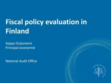 Fiscal policy evaluation in Finland
