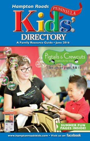 Hampton Roads Kids' Directory Peninsula Edition: June 2016