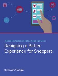 Designing a Better Experience for Shoppers