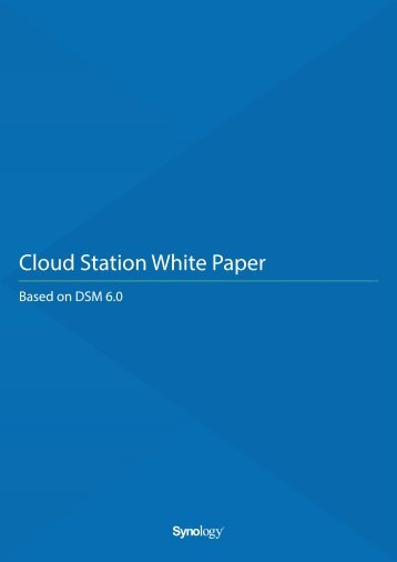 Cloud Station White Paper