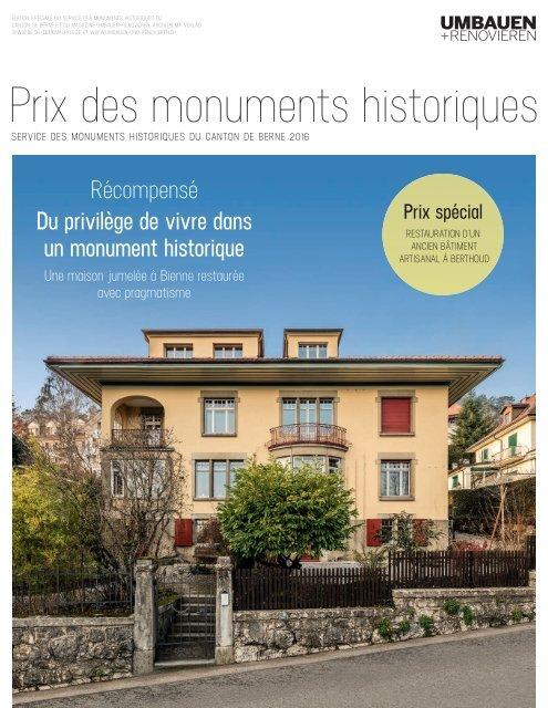Prix des monuments historiques 2016