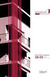 Rapport annuel au 31 mars 2009 - FidFund
