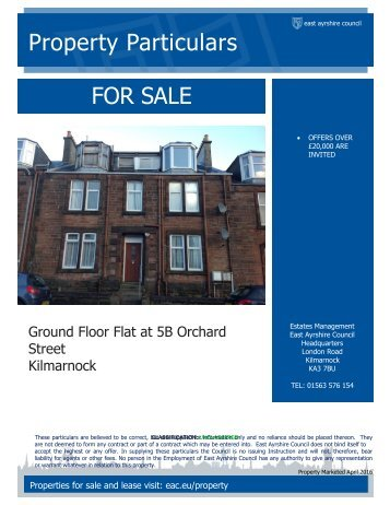 Property Particulars FOR SALE