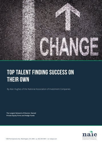 TOP TALENT FINDING SUCCESS ON THEIR OWN