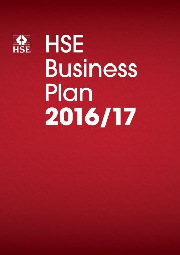 HSE Business Plan 2016/17